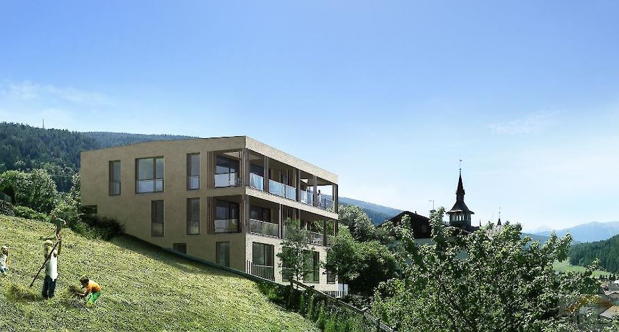 NEW BUILDING: 2-roomed with with panoramic view Bild